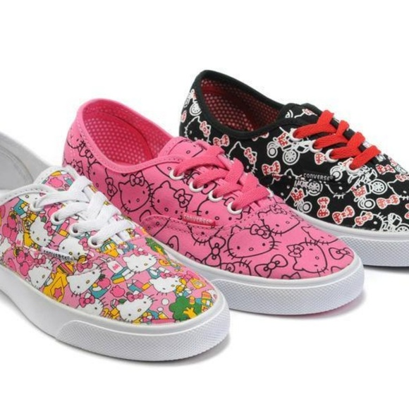 Limited Edition! Pink Hello Kitty Vans. M 5b4013469fe4862f05a53b0a df0d6bc16